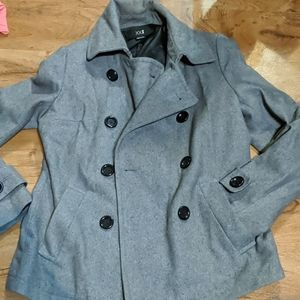 XXI medium button up jacket gray